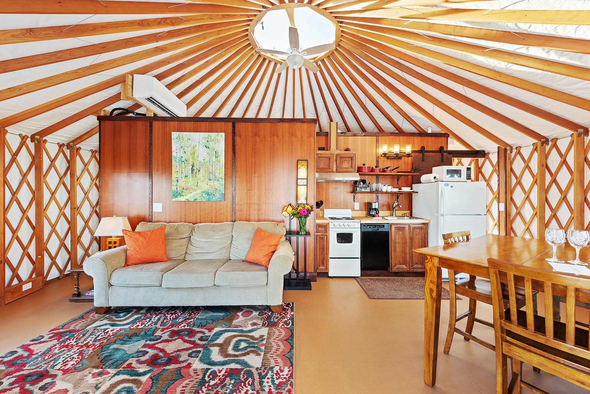Photo of cherry blossom yurt one of the best airbnbs in georgia