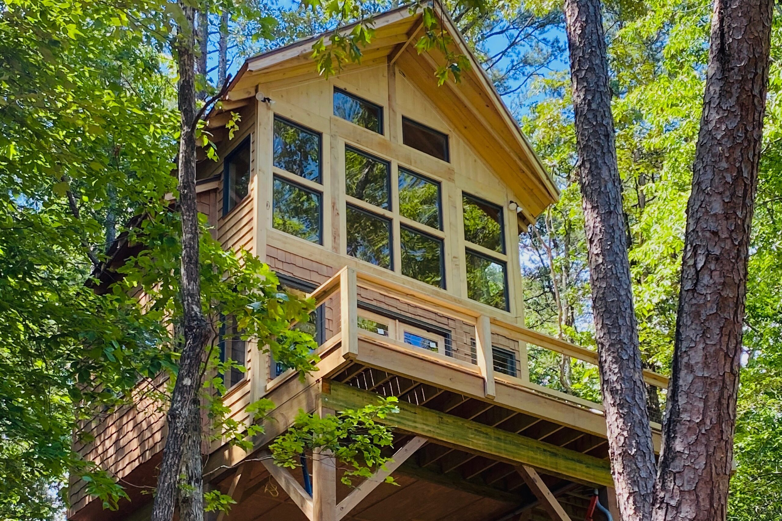 Photo of daybreak suspended treehouse one of the best airbnbs in georgia