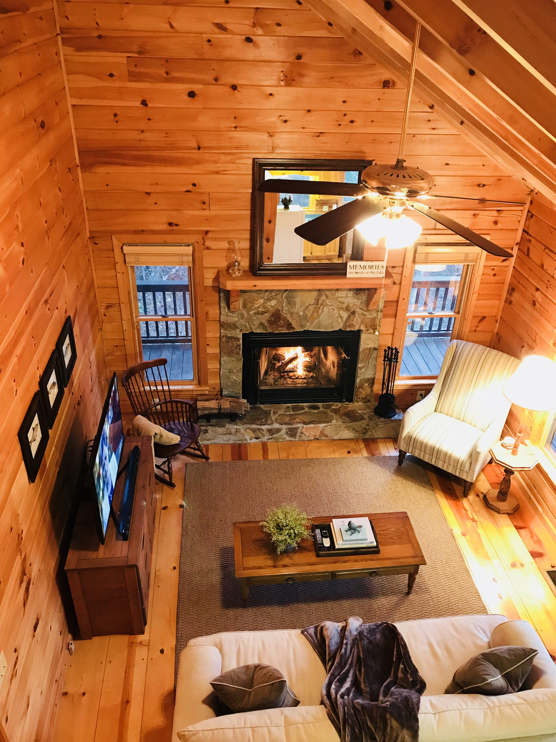Photo of lake hideaway cabin one of the best airbnbs in georgia