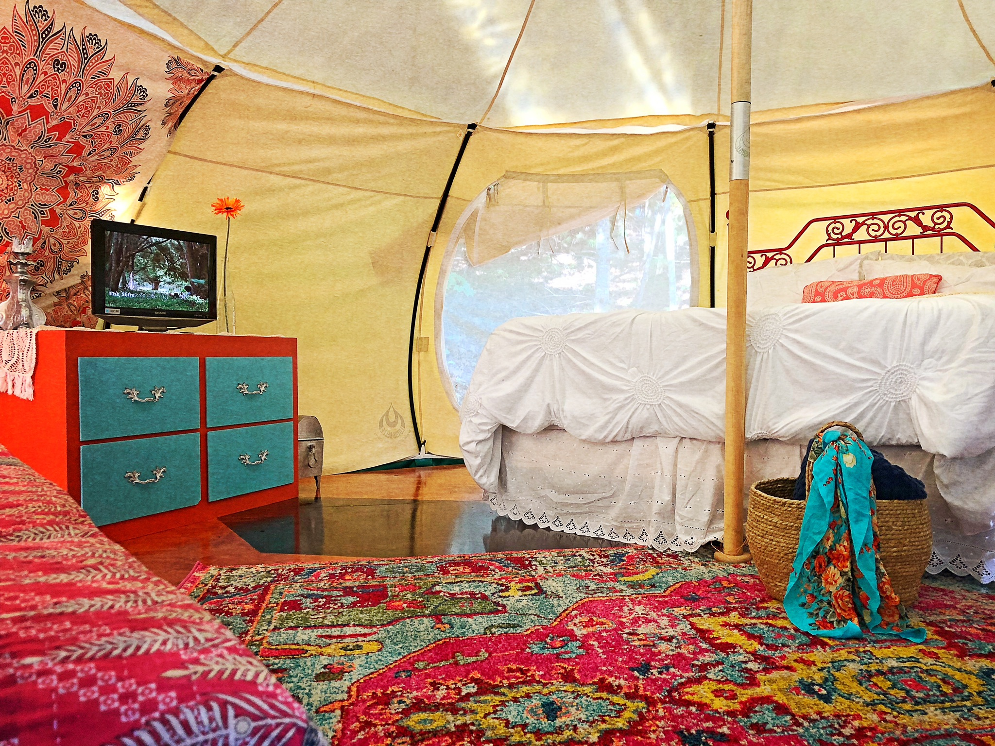 Photo of lotus belle yurt one of the best airbnbs in georgia