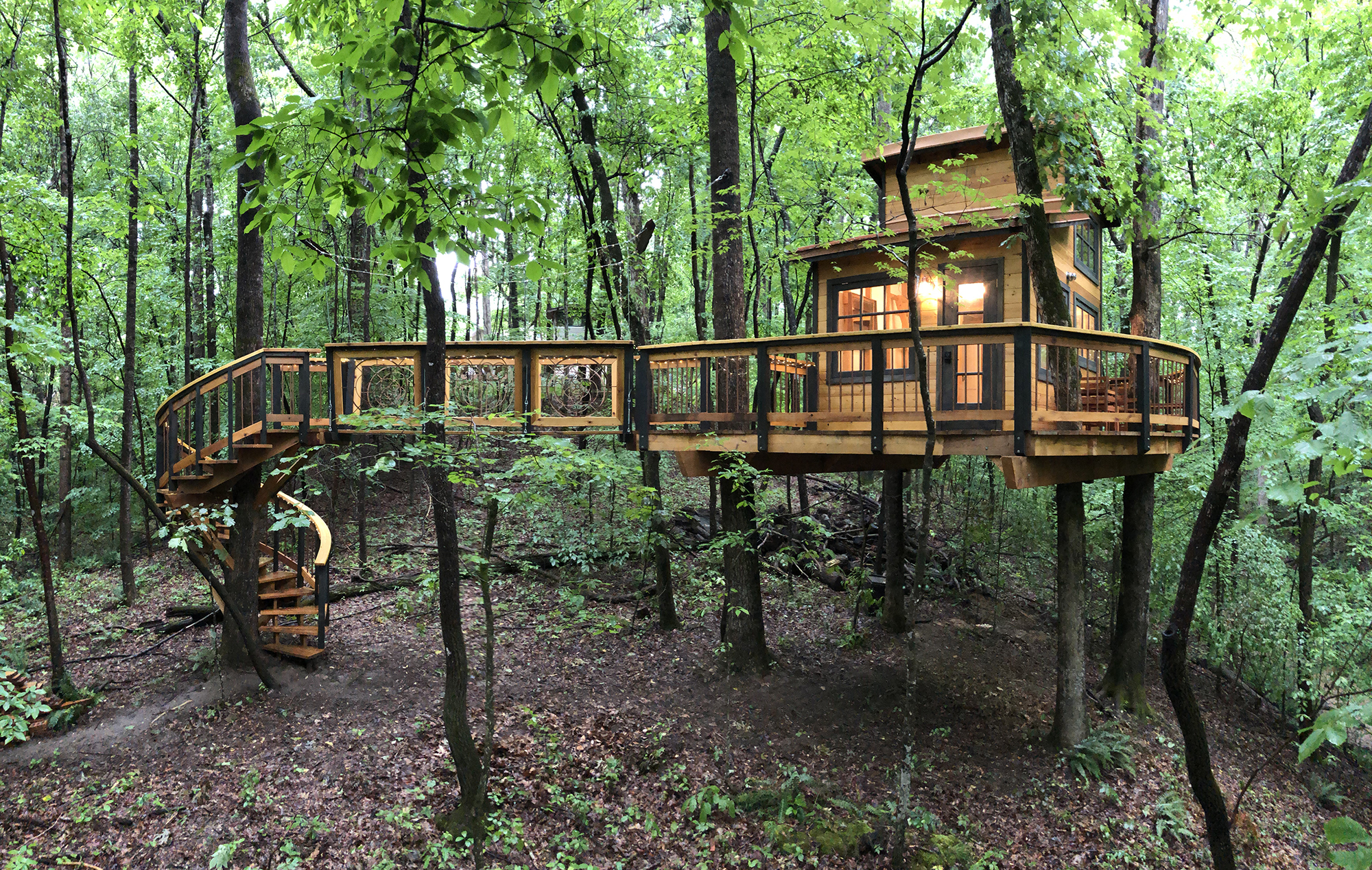 Photo of Owl in the Oak suspended treehouse one of the best airbnbs in georgia
