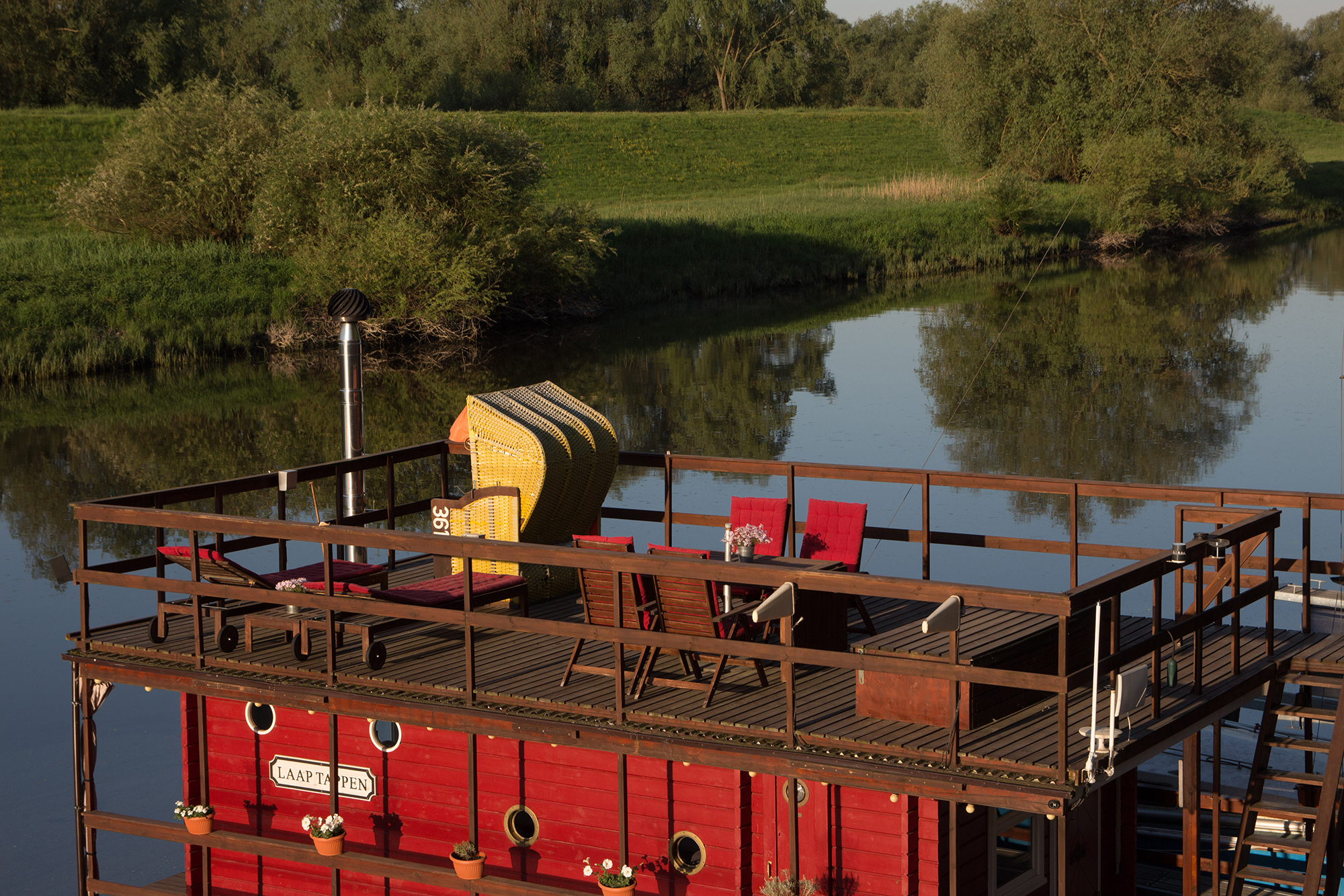 Photo of Floating Houseboat in Boizenburg one of the best airbnbs in germany
