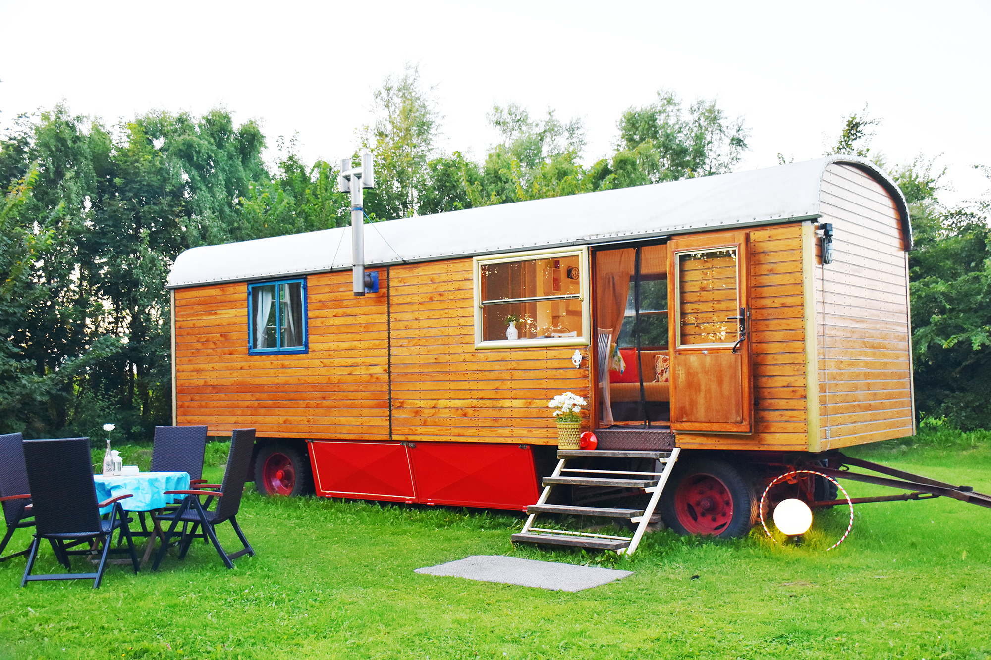 Photo of vintage circus wagon one of the best airbnbs in germany