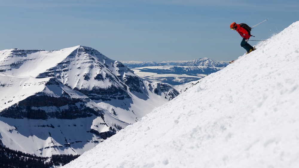 photo of a skier at big sky one of the best ski resorts in the usa