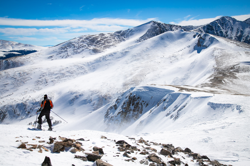 photo of a skier at breckenridge colorado one of the top ski resorts in the usa