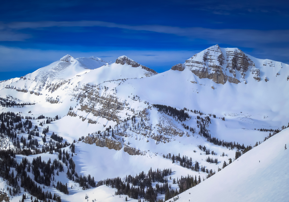 photo of the slopes at jackson hole one of the top places to go skiing in the usa
