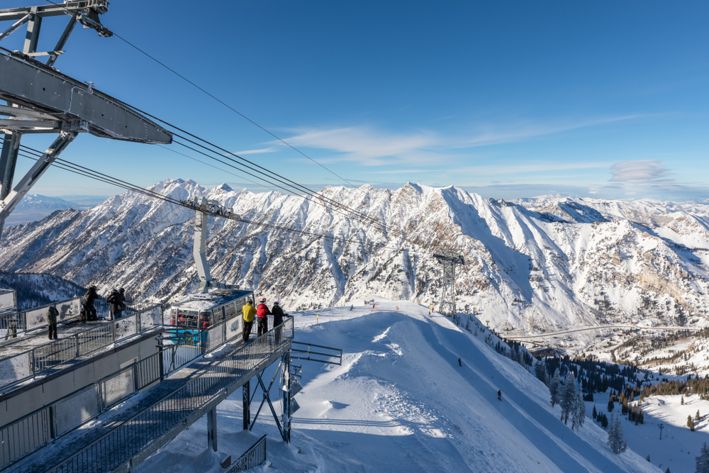 photo of the ski lift at snowbird utah a top place to go skiing in the usa