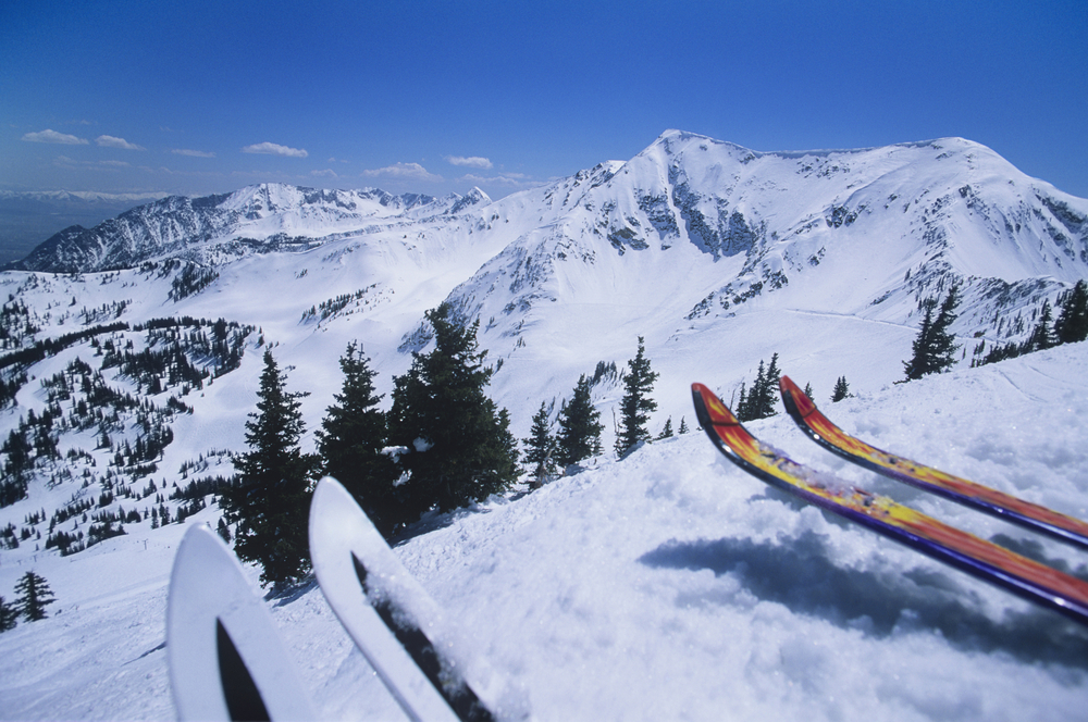 photo of skis at sugar mountain one of the best places to go skiing in the usa