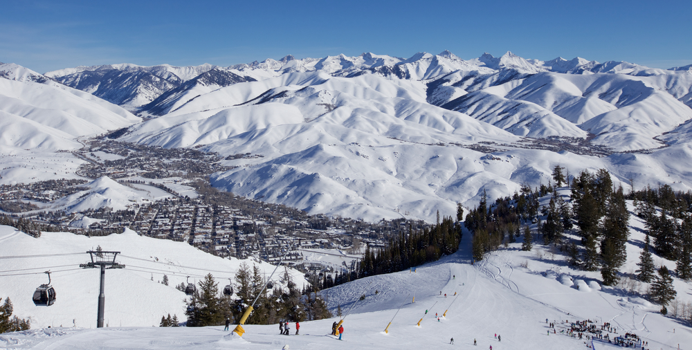 photo of the ski resort sun valley one of the best places to go skiing in the usa