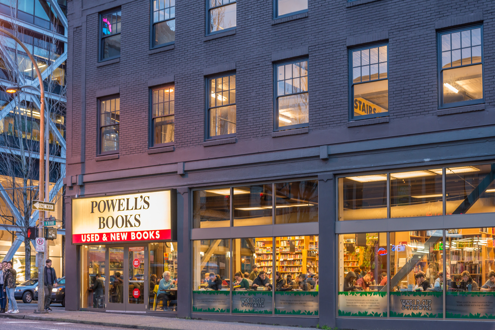 Outside view of Powell's City of Books, one of the best things to do in Portland Oregon