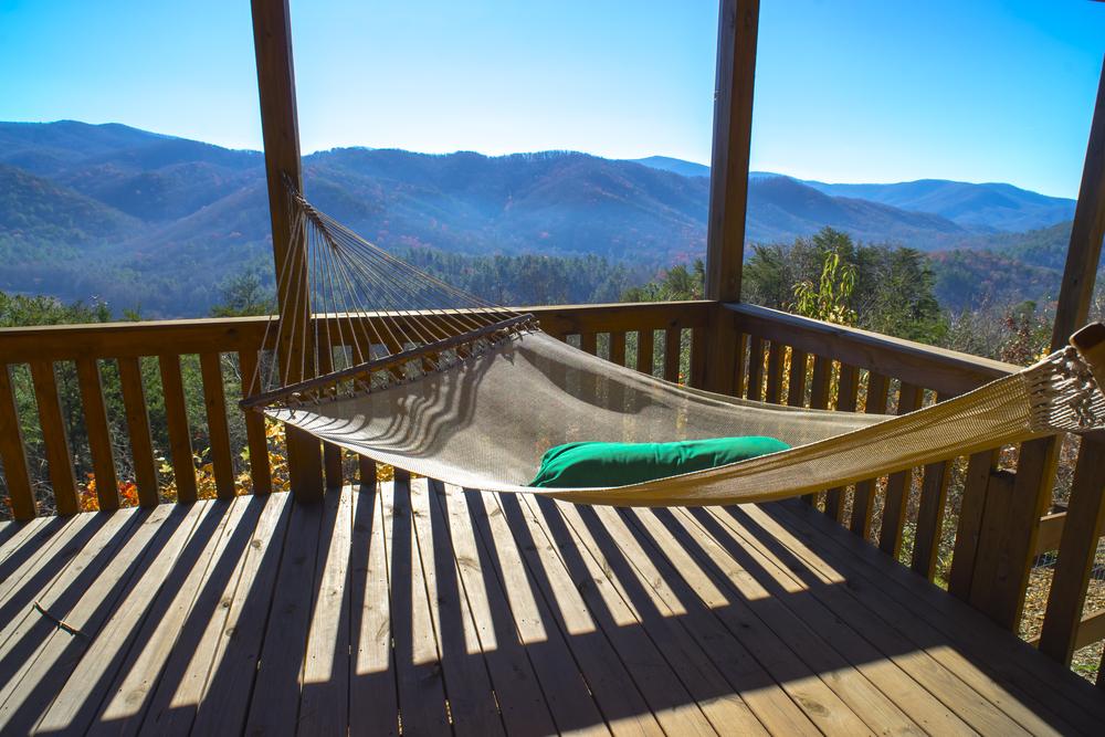 Hammock overlooking the Blue Ridge mountains in Georgia