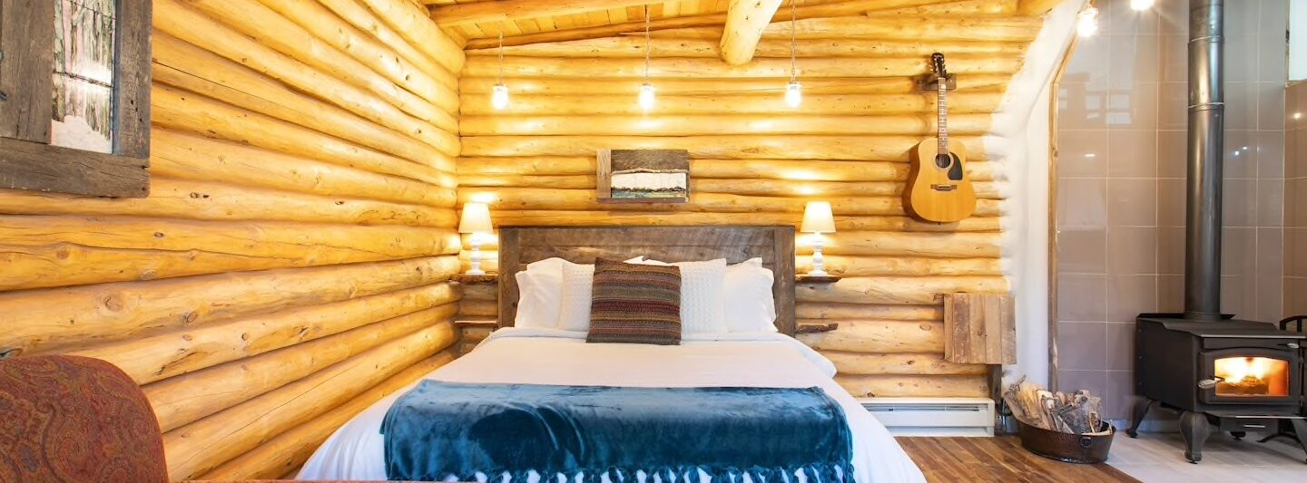 The Boho Chic Log Cabin with Zipline is one of the best Airbnbs in Boulder