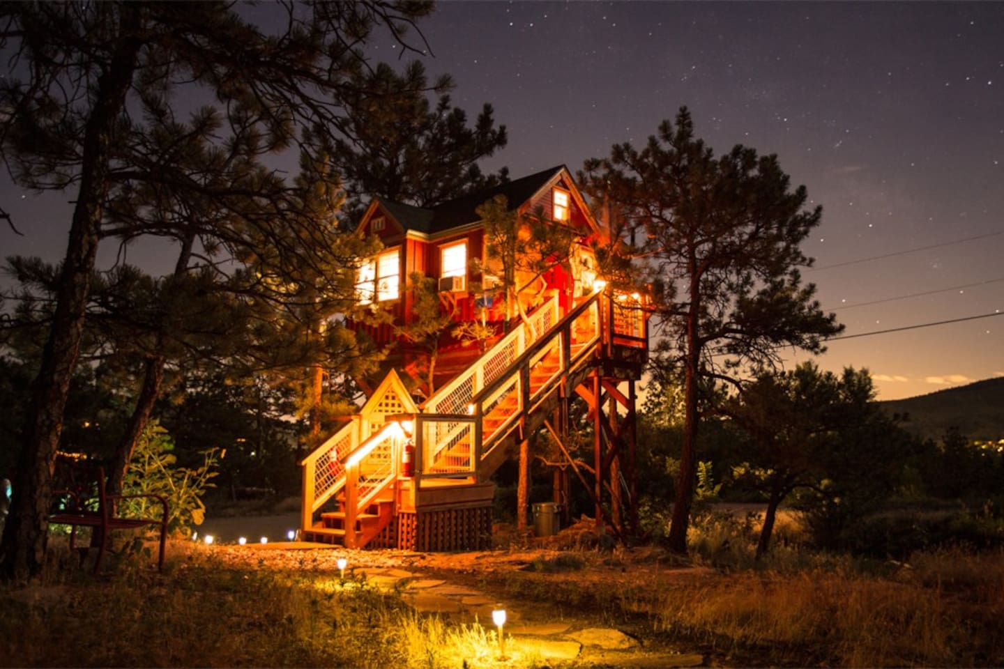 The Little Red Treehouse is one of the best Airbnbs in Boulder