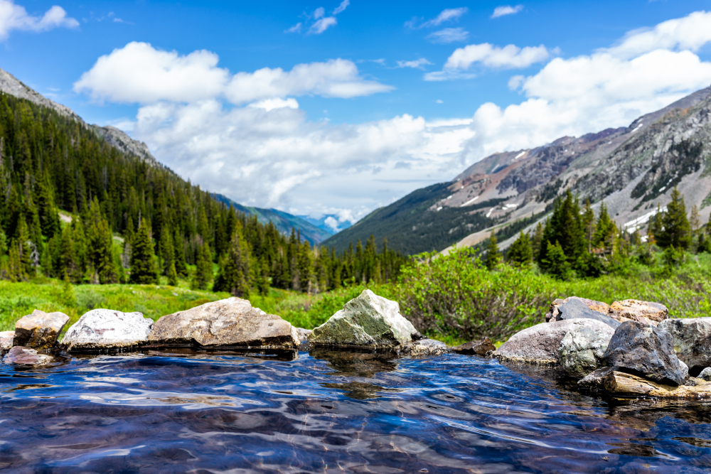 A photo of Conundrum Springs, one of the best hot springs in Colorado