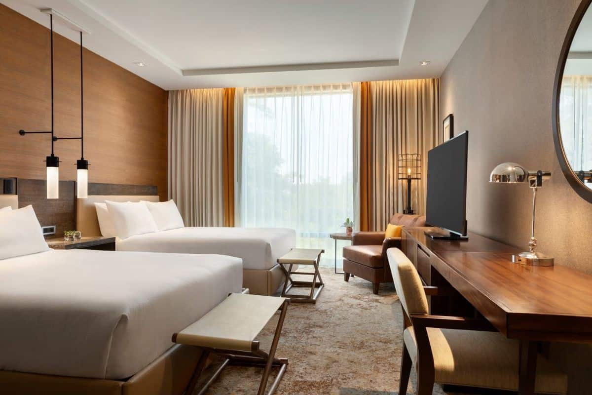 Modern luxury hotel