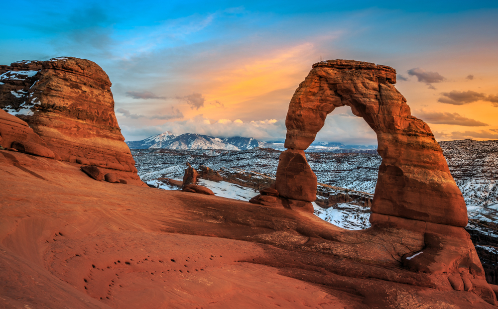 a photo of Arches National Park in january, one of the best time to visit