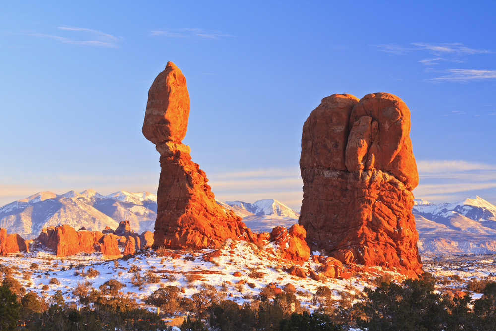 a photo of arches national park in february, a great time to go