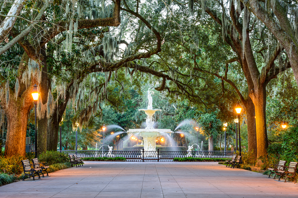 Forsyth Park in Savannah, one of the best cities in the South