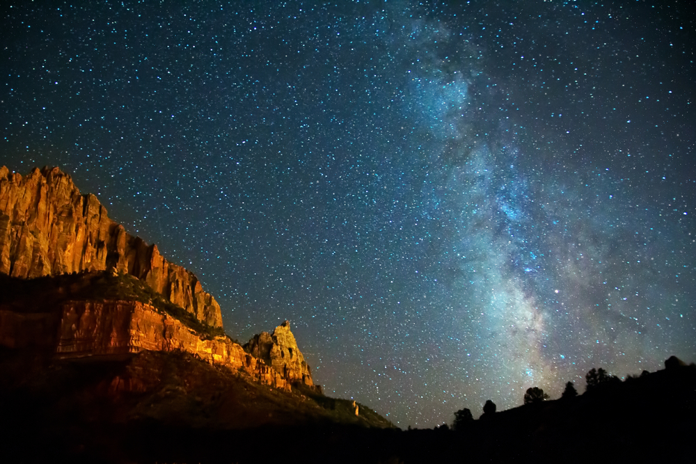 Amazing stars in Zion during winter