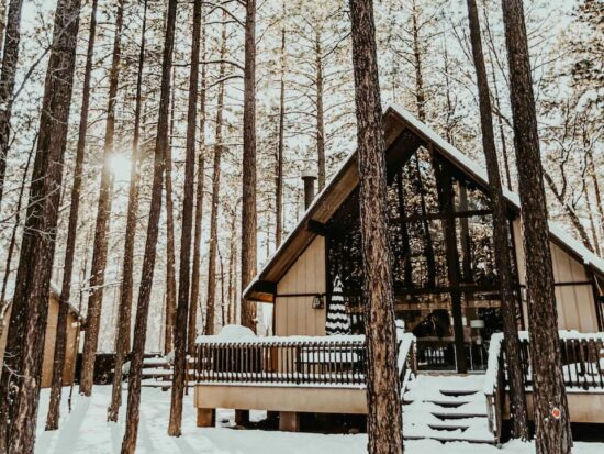 The modern a frame is one of the best cabins in Arizona