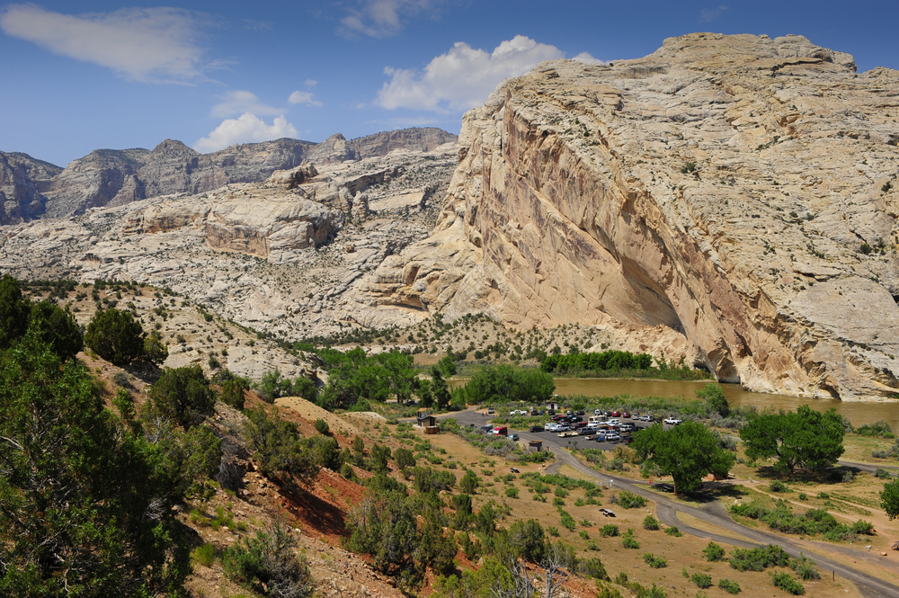 Aerial View of The Dinosaur Monument