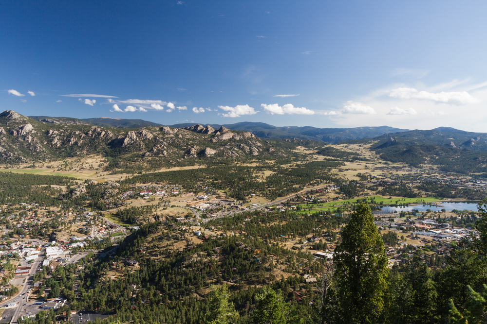 photo from the estes park aerial tramway, one of the most fun things to do in estes park