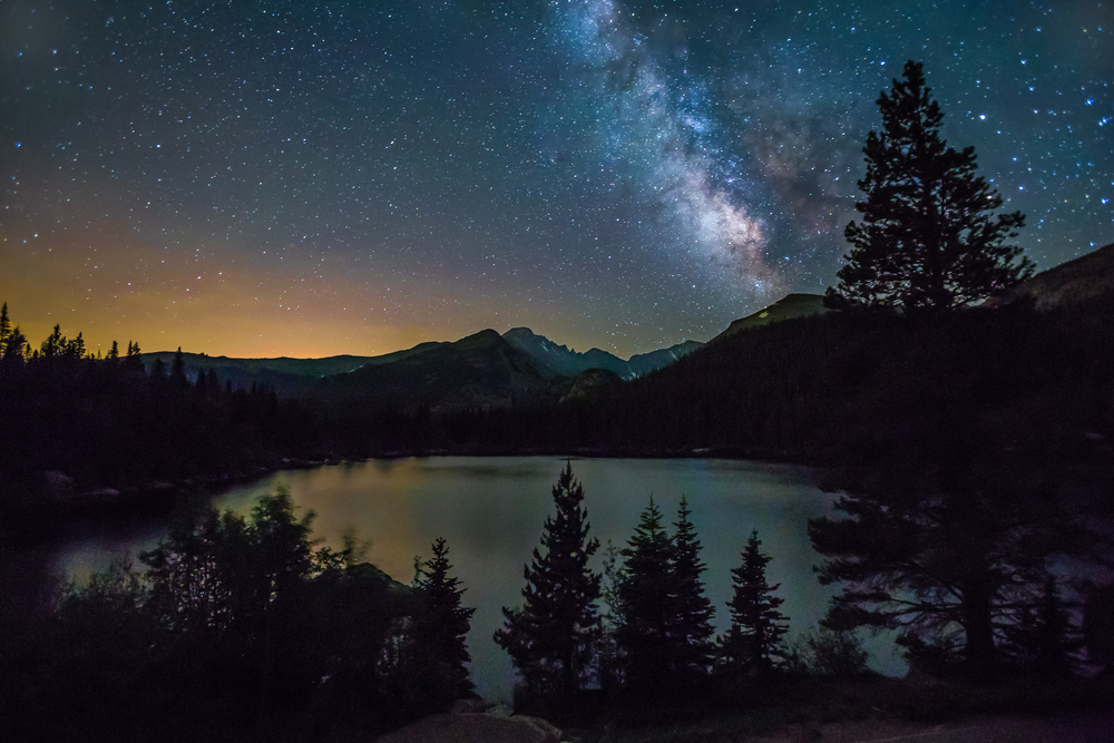 photo of the stars over estes park memorial observatory, one of the epic things to do in estes park in winter