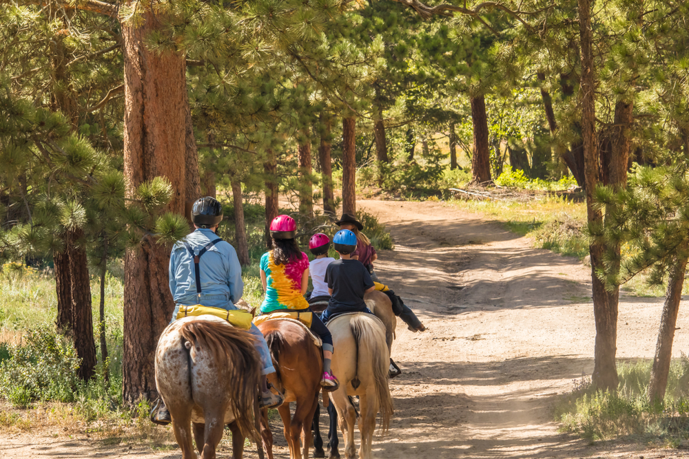 photo of a horseback tour, one of the best things to do in estes park with kids