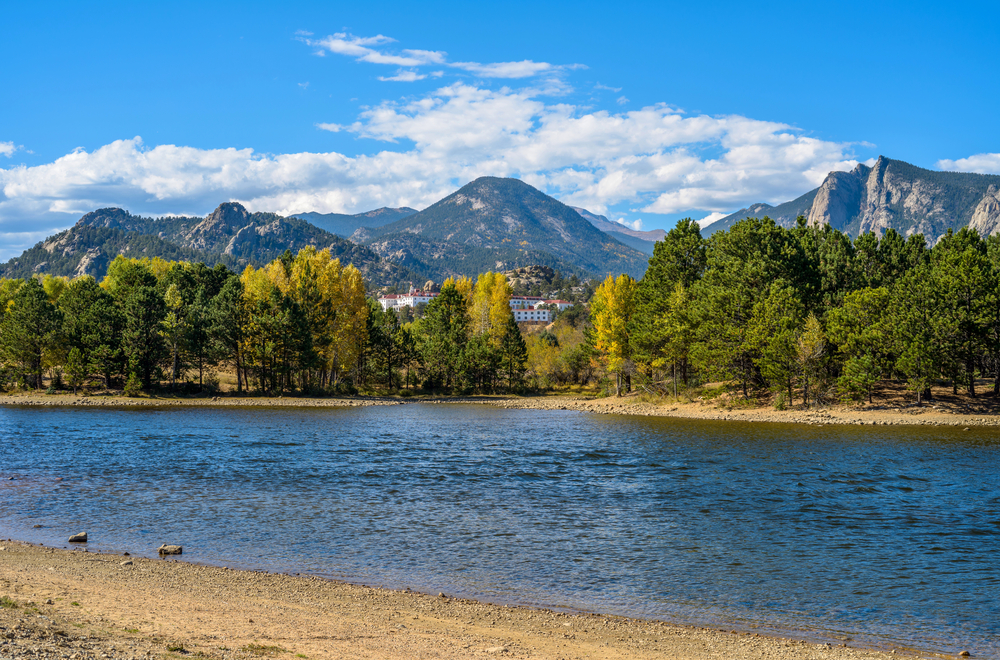 a photo of lake estes marina, one of the top Estes park attractions