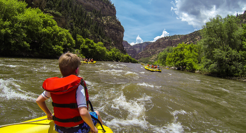 photo of people rafting, one of the coolest things to do in estes park colorado