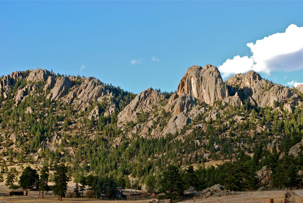a photo of lumpy ridge, a top estes park attraction to go rock climbing