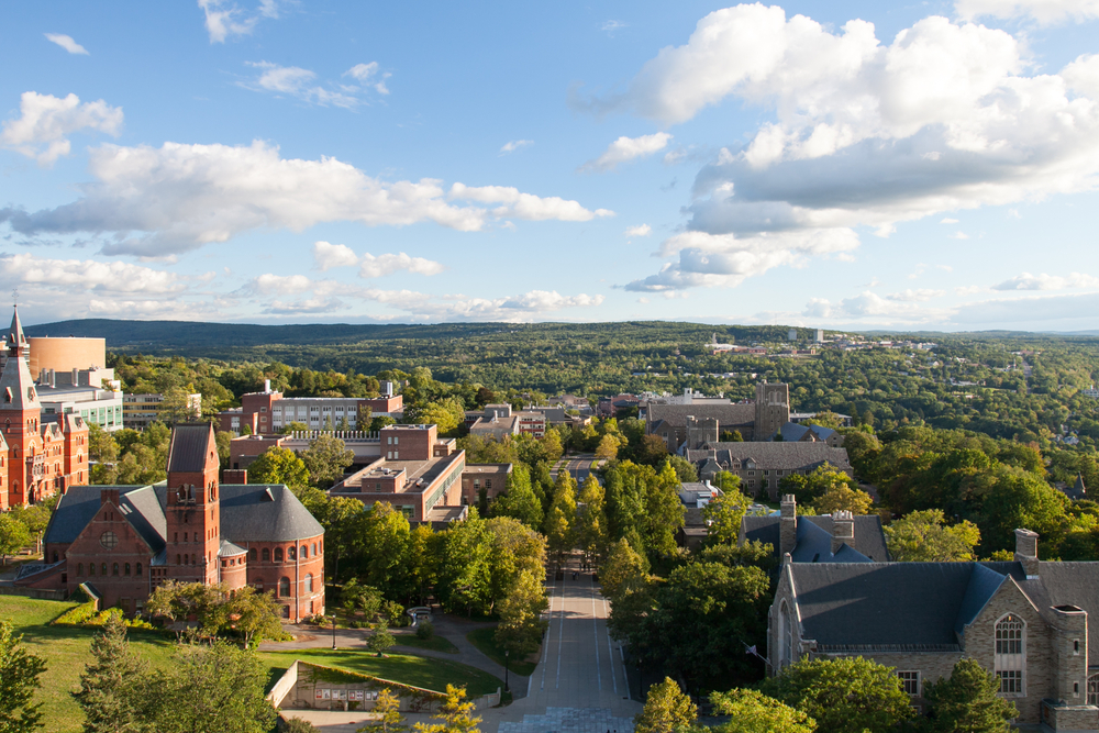 Ithaca in up state new york. A view of the city