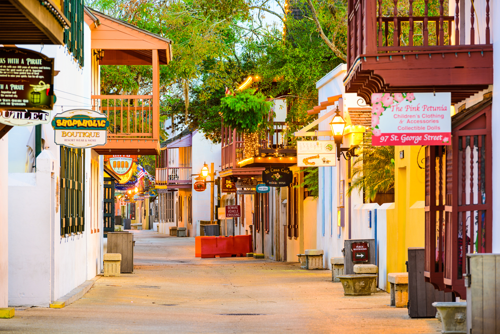 A lovely street in St Augustine one on the great towns on the east coast to visit