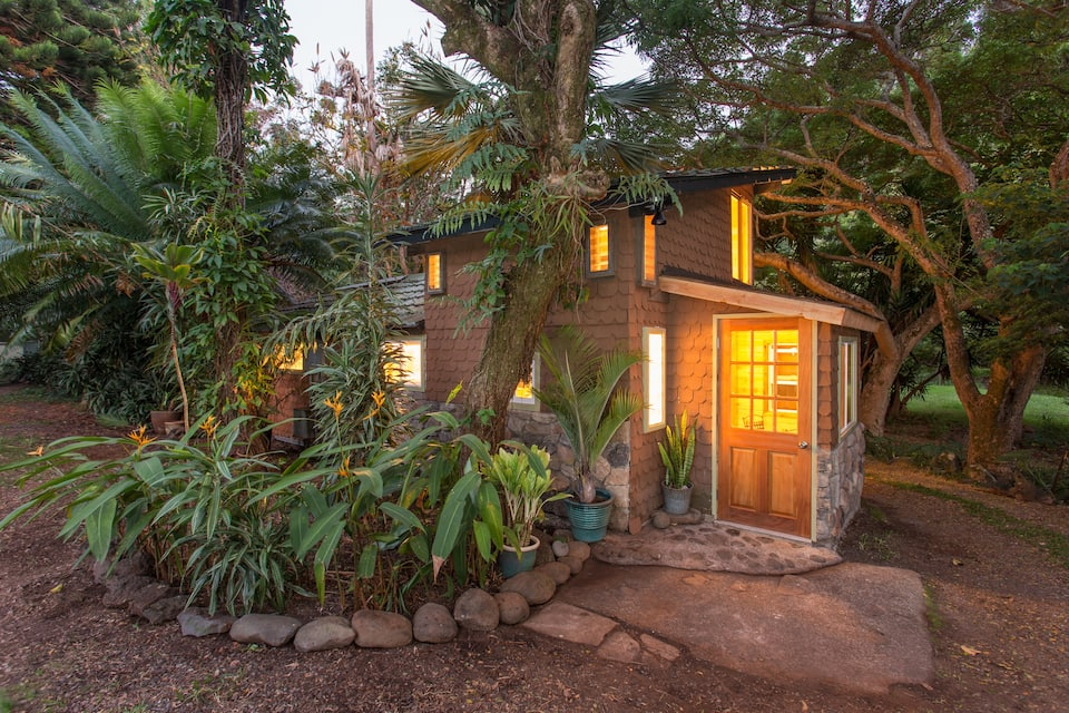 the adorable Garden Gingerbread House is one of the best Airbnbs in Maui