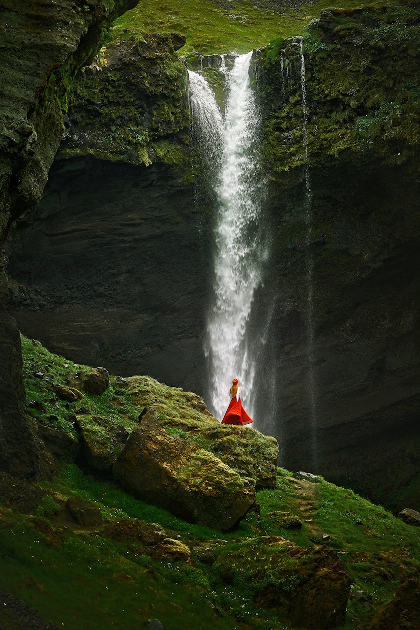 wilderness quotes inspiring picture of woman near waterfall