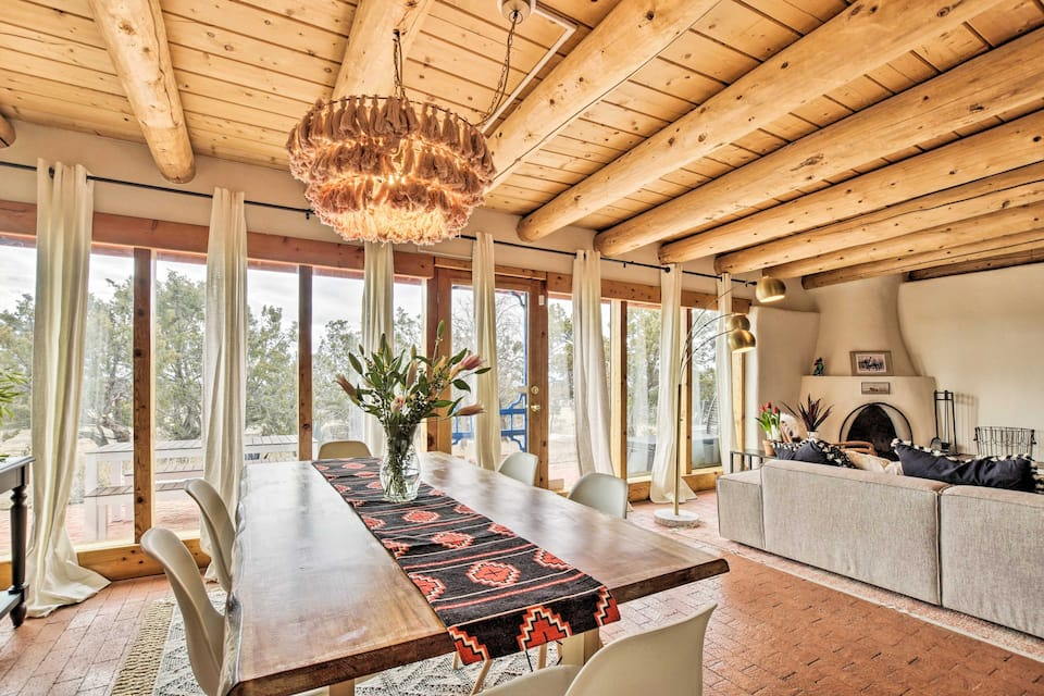 this authentic Santa Fe adobe home with desert views is one of the best Airbnbs in Santa Fe