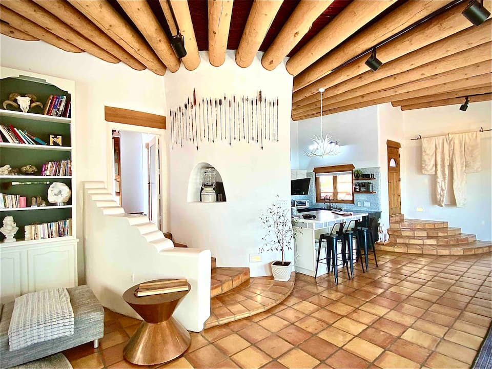 Black and Mitty's casita is one of the best Airbnbs in Santa Fe.