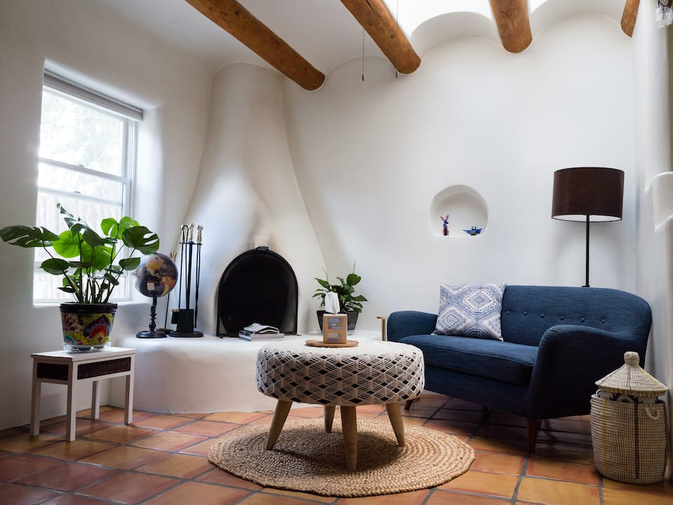 this lovely downtown casita is one of the best Airbnbs in Santa Fe