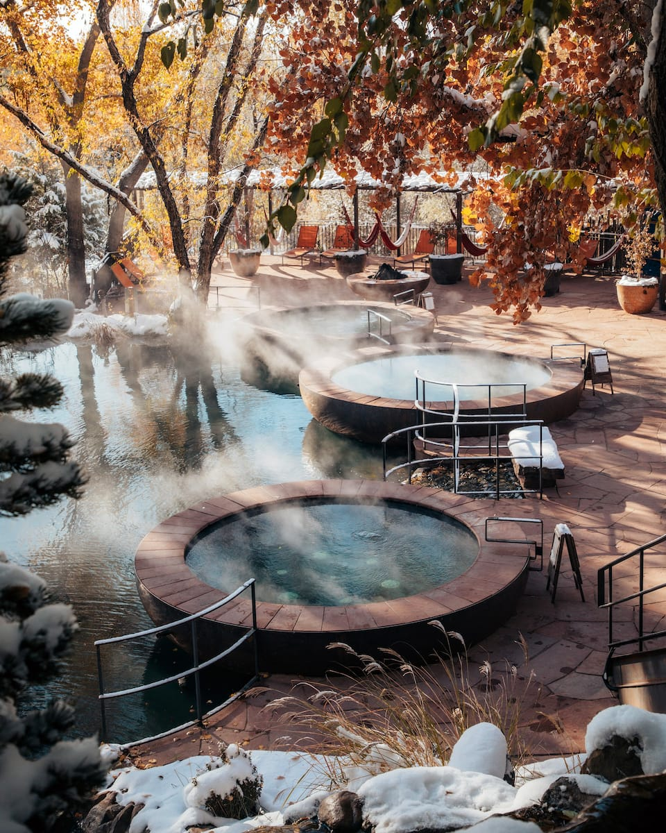 the Hot Springs Casita at the Ojo Santa Fe Spa Resort is one of the best Airbnbs in Santa Fe