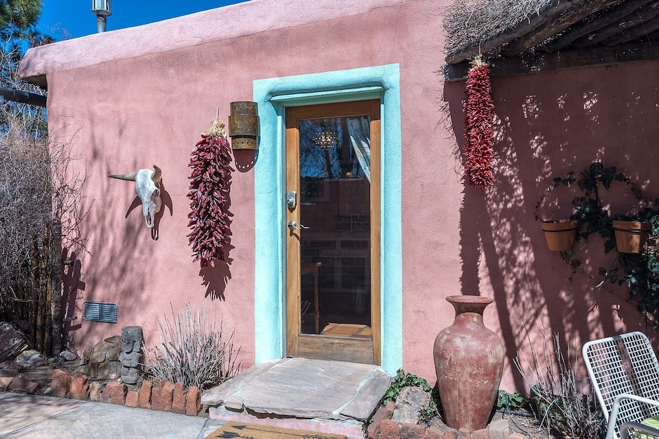 this luxe adobe casita is one of the best Airbnbs in Santa Fe