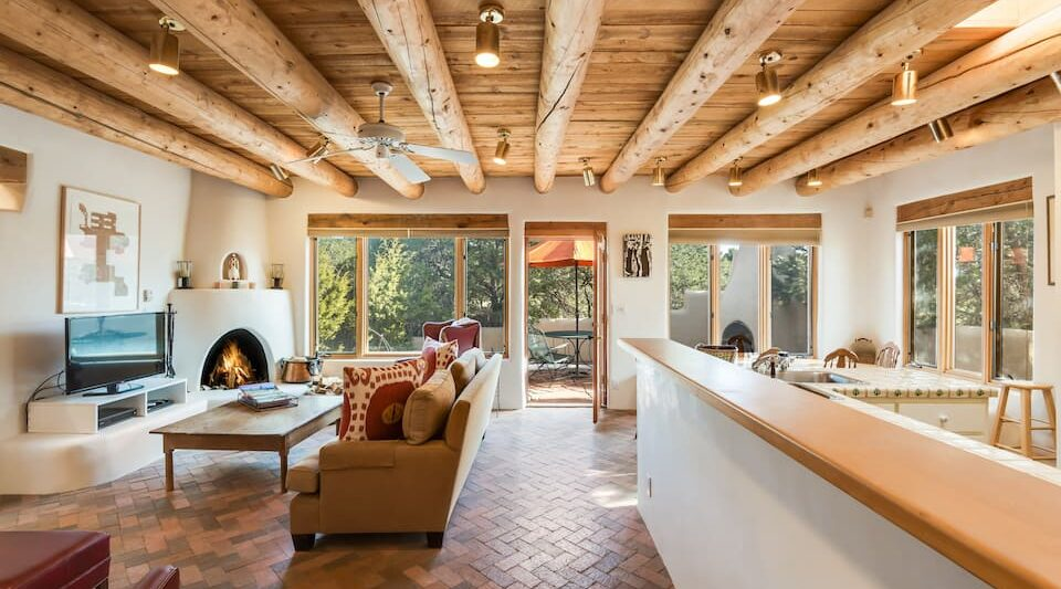 this upscale, beautiful, and private 2 BR home is one of the best Airbnbs in Santa Fe