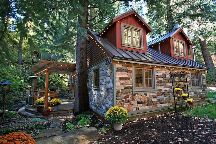a photo of the storybook stone cottage one of the top utah cottage rentals
