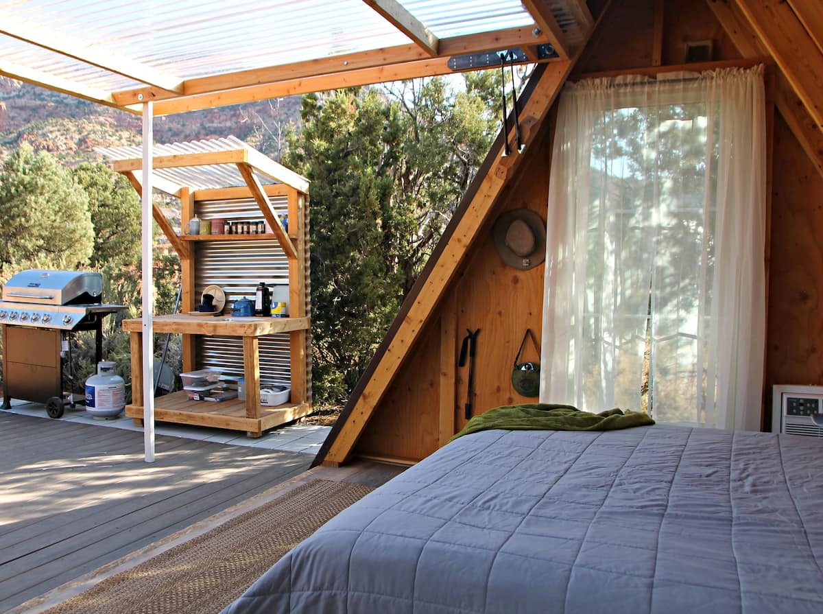 a photo of the narrows a-frame one of the best utah vacation homes