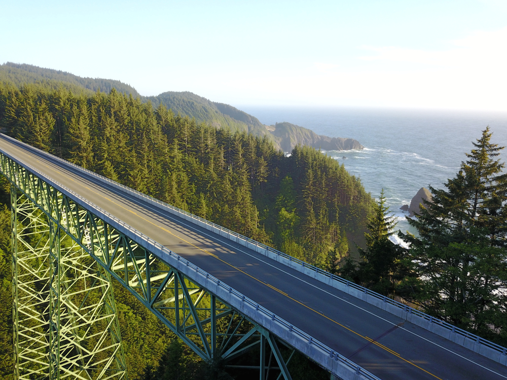 Thomas Creek Bridge in Oregon