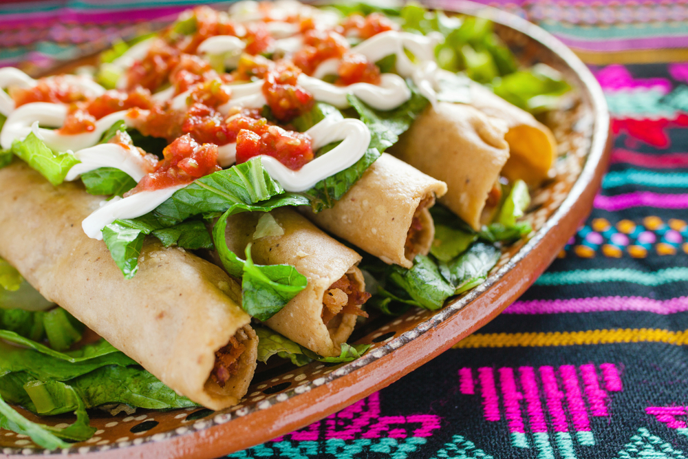 chicken flautas are offered at Santa Fe Bite which is one of the best restaurants in Santa Fe