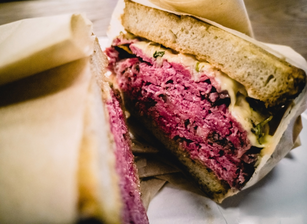 a pastrami sandwich is offered at The Compound which is one of the best restaurants in Santa Fe