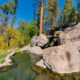 the side view of Spence Hot Springs which is one of the best New Mexico hot springs