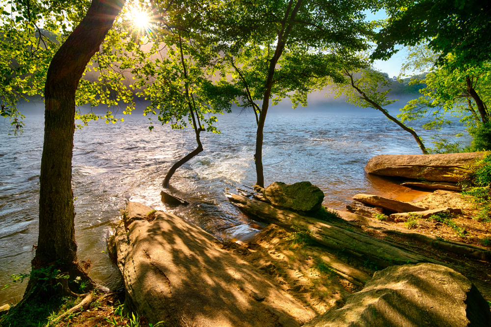 Enjoy a relaxing float trip on a weekend getaway on the East Coast.