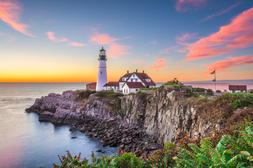 You will see many beautiful lighthouses on a coastal Maine road trip.