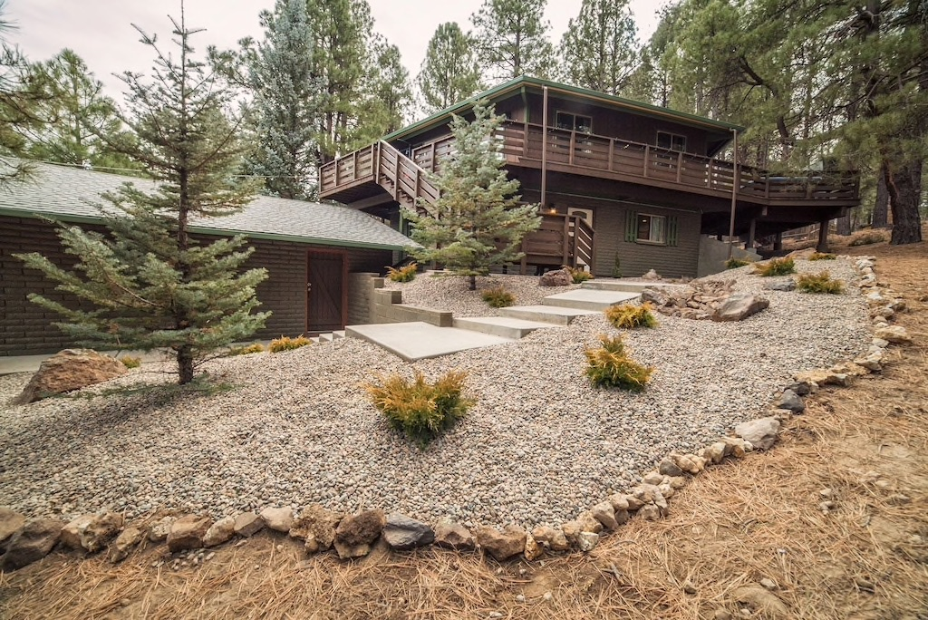 you can enjoy the pines in a hot tub at one of the best cabins in Arizona